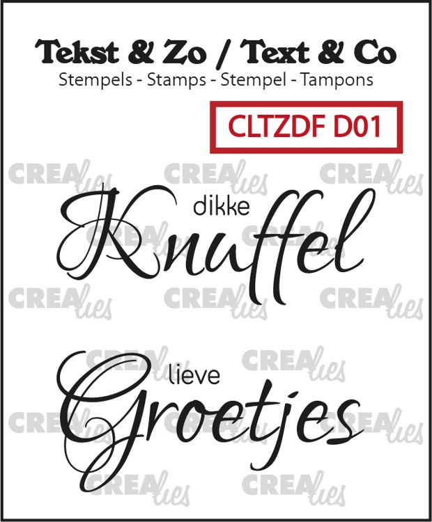 Tekst & Zo Duo Font stempels, Divers no. 1