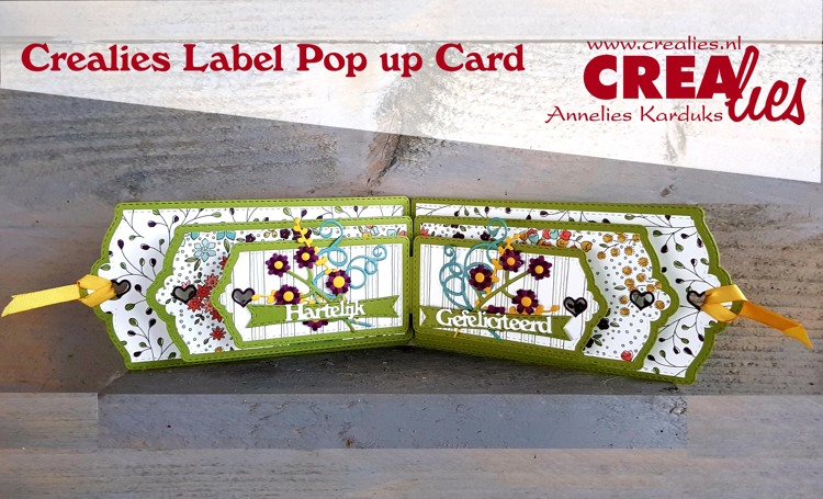 Crealies Label Pop up Card