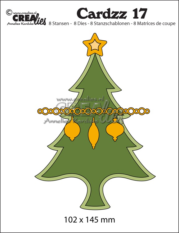 Cardzz stansen no. 17, Kerstboom (kaartformaat)