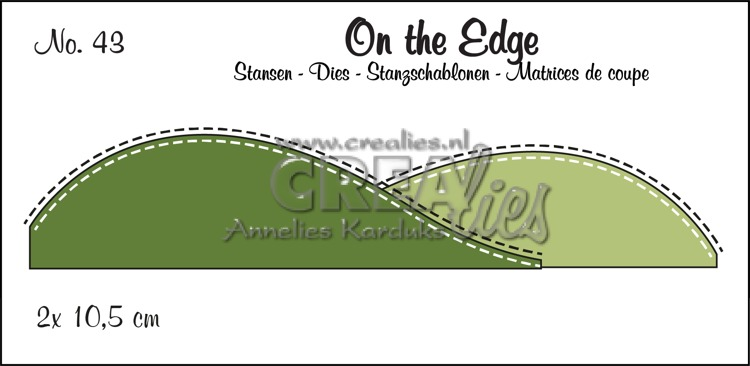 On the Edge dies no. 43, 2x Snow/Hill with stitchline