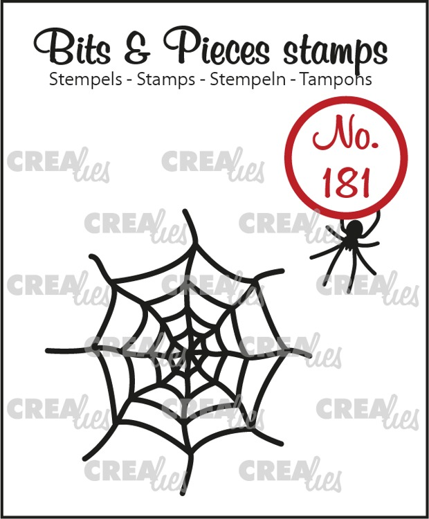 Bits & Pieces stempel no. 181, Spinnenweb & Spin