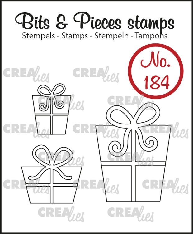 Bits & Pieces stamp no. 184, 3x Presents