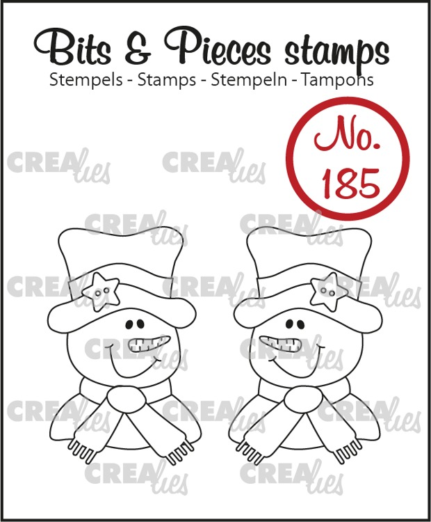 Bits & Pieces stempel no. 185, 2x Sneeuwpop
