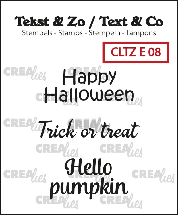 Text & Co Engelse stempels no. 8, Halloween