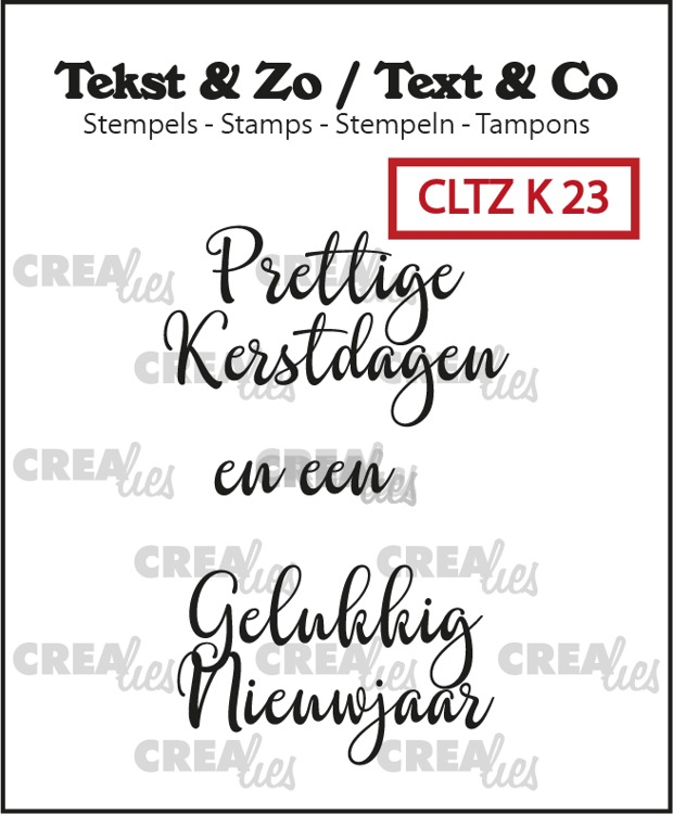 Dutch text stamps Christmas no.23