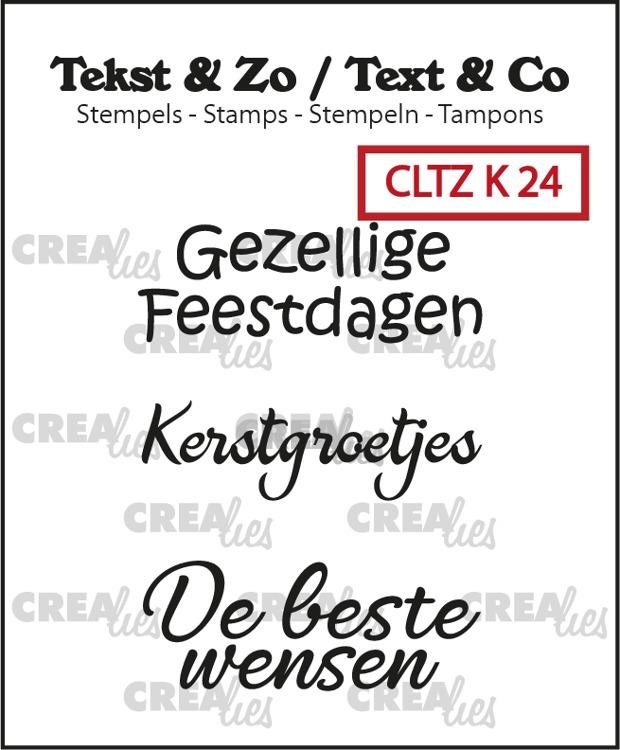 Tekst & Zo stempels, Kerst no. 24