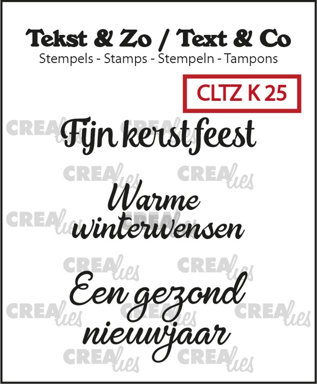 Tekst & Zo stempels, Kerst no. 25