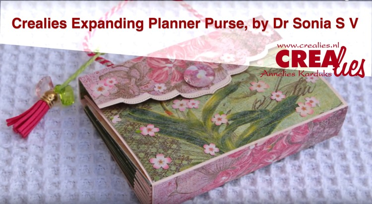 Crealies Expanding Planner Purse, by Dr Sonia S V