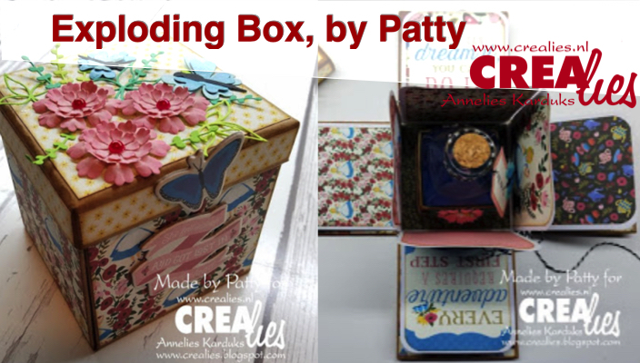 Crealies Exploding Box, by Patty