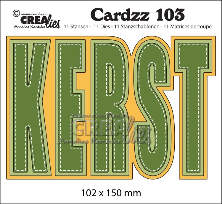 Cardzz stansen no. 103, KERST (kaartformaat)