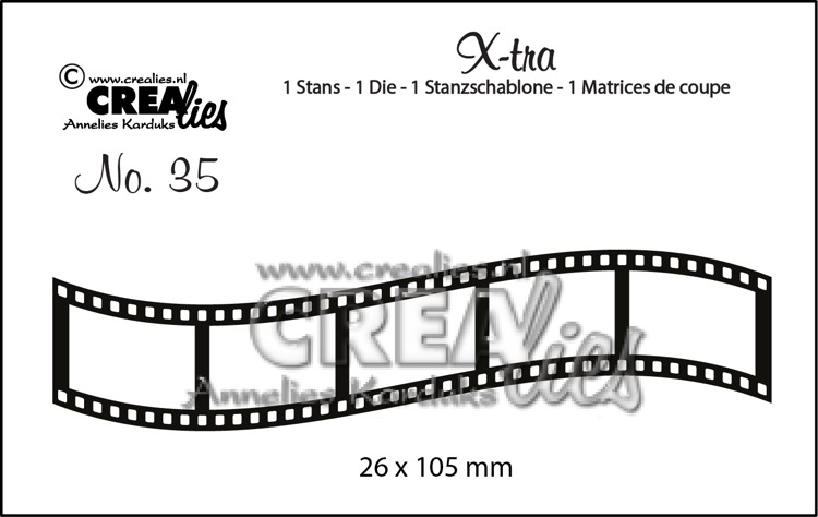X-tra dies no. 35, Curved filmstrip, small
