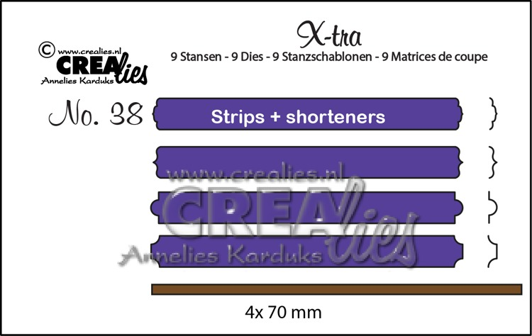 X-tra dies no. 38, Strips & shorteners set B