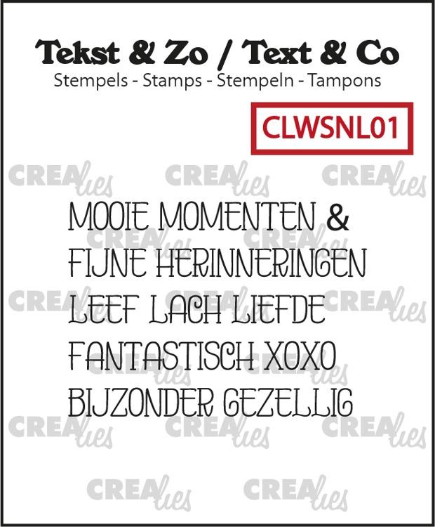 Tekst & Zo stempels, Woordstrips no. NL01: Momenten