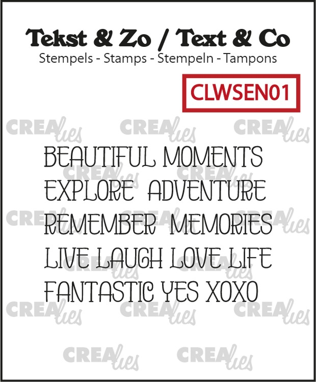 Text & Co, Word strips no. EN01, Moments