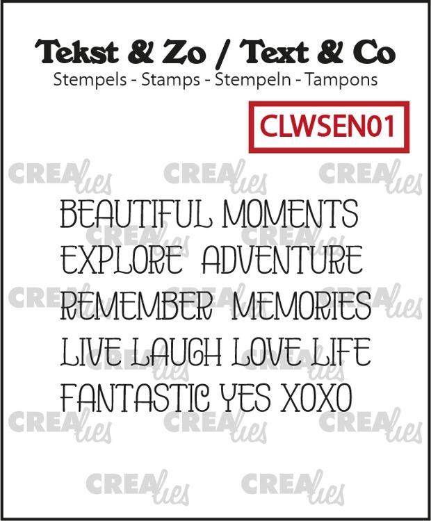 Text & Co, Word strips no. EN01, Moments (Engels)
