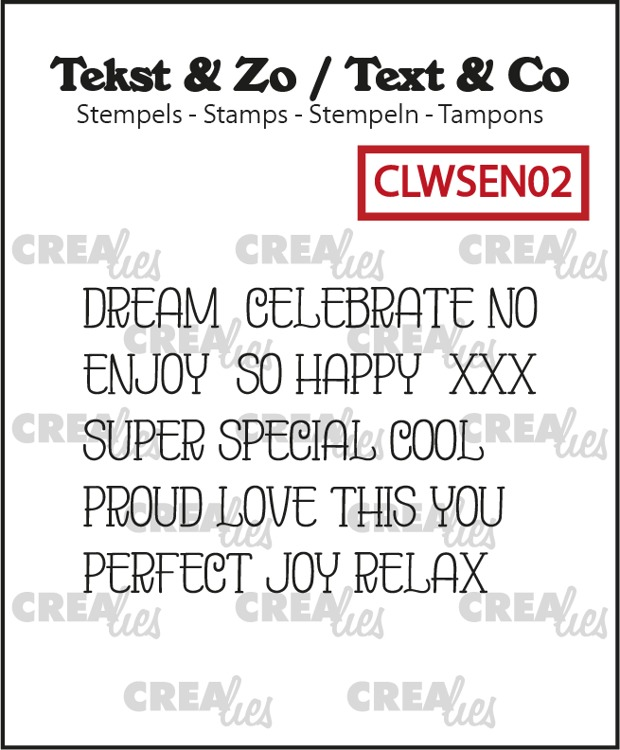 Text & Co, Word strips no. EN02, Dream