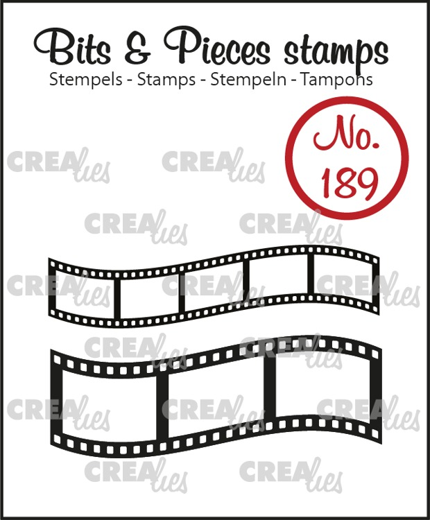 Bits & Pieces stamp no. 189, Curved filmstrips