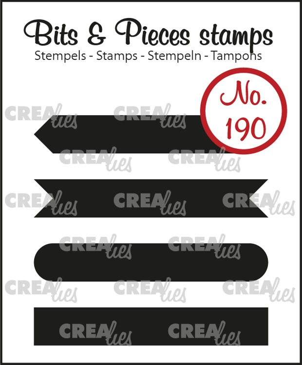 Bits & Pieces stempel no. 190, Strips set A: dicht