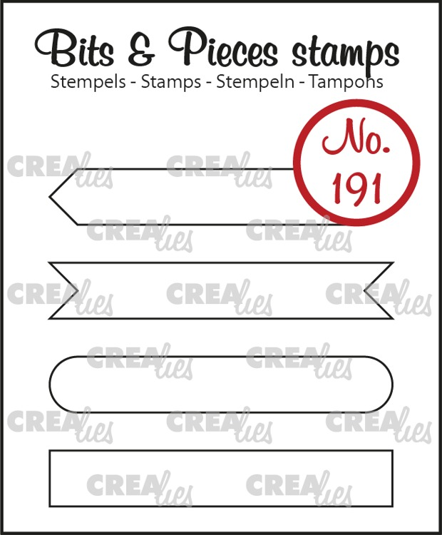 Bits & Pieces stamp no. 191, Strips set A: outline