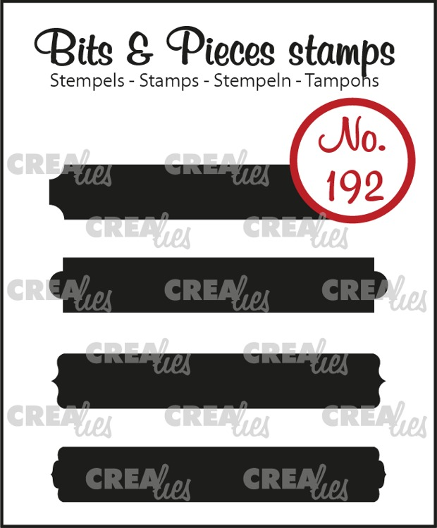 Bits & Pieces stamp no. 192, Strips set B: solid