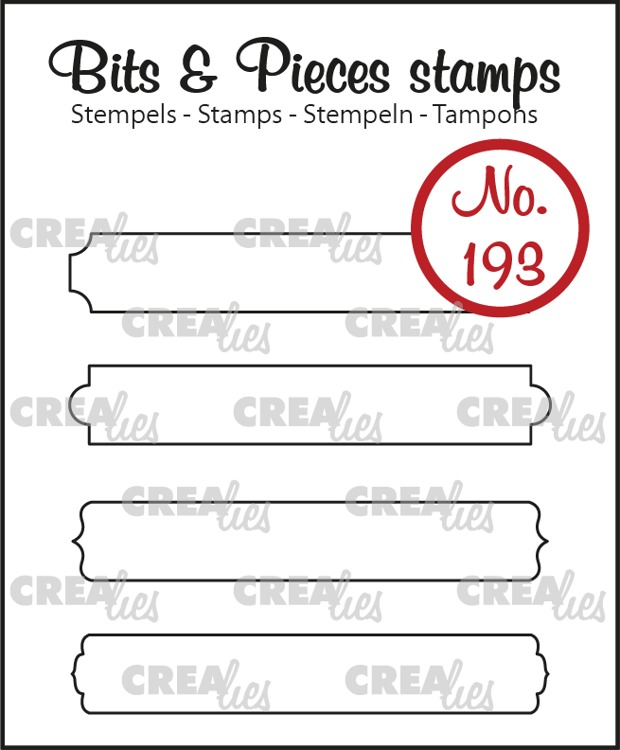 Bits & Pieces stamo no. 193, Strips set B: outline
