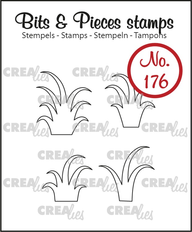 Bits & Pieces stempel no. 176, 4 x gras