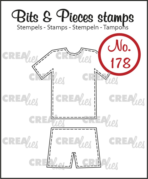 Bits & Pieces stamp no. 178, Sport outfit