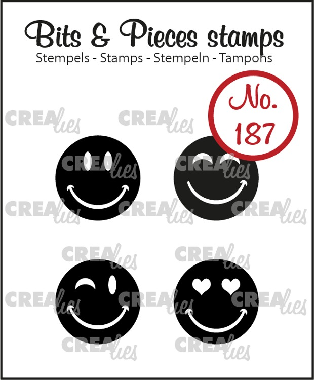 Bits & Pieces stamp no. 187, Happy Faces, solid