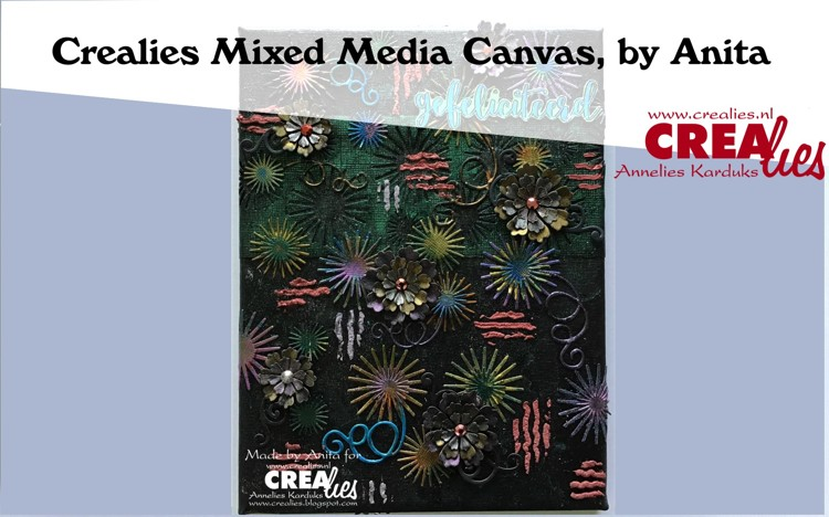 Crealies Mixed Media Canvas, by Anita