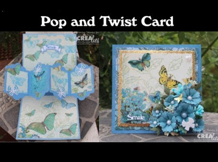Crealies Twist & Pop Card, by Sonia