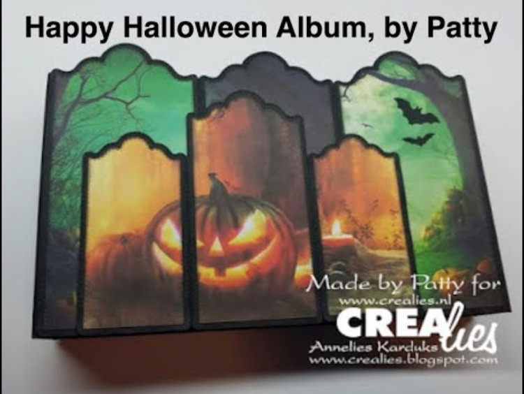 Crealies Happy Halloween Album, by Patty