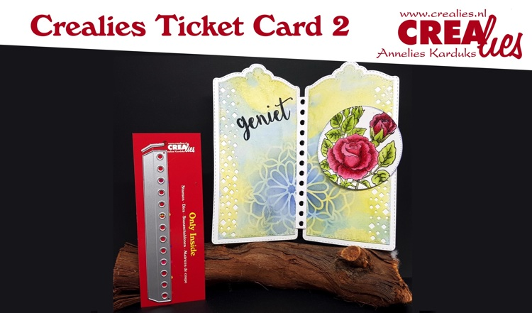 Crealies Ticket Card deel 2/part 2