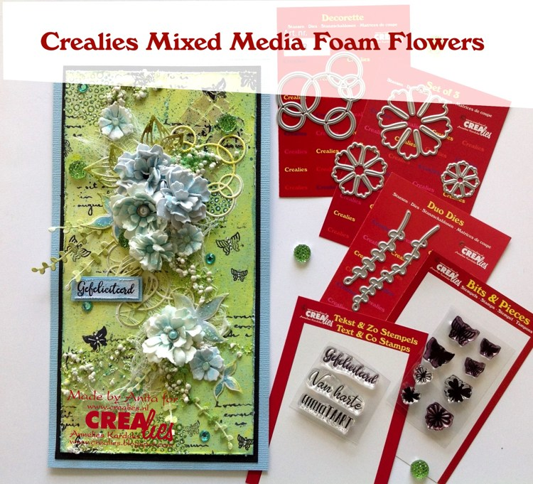 Crealies Mixed Media Foam Flowers, by Anita