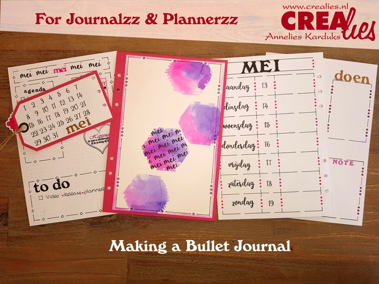 Crealies For Journalzz & Plannerzz; Making a Bullet Journal