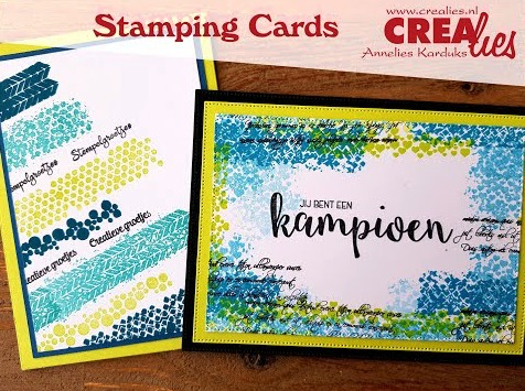 Crealies Stamping Cards