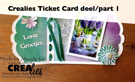 Crealies Ticket Card deel 1