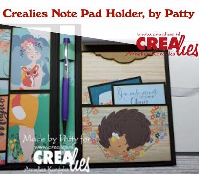 Crealies Note Pad Holder with Pockets, by Patty