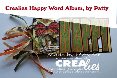Crealies Happy Word Album, by Patty
