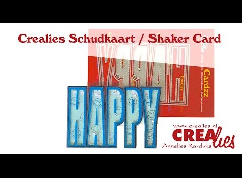 Crealies Cardzz word die part 2 Shaker Card