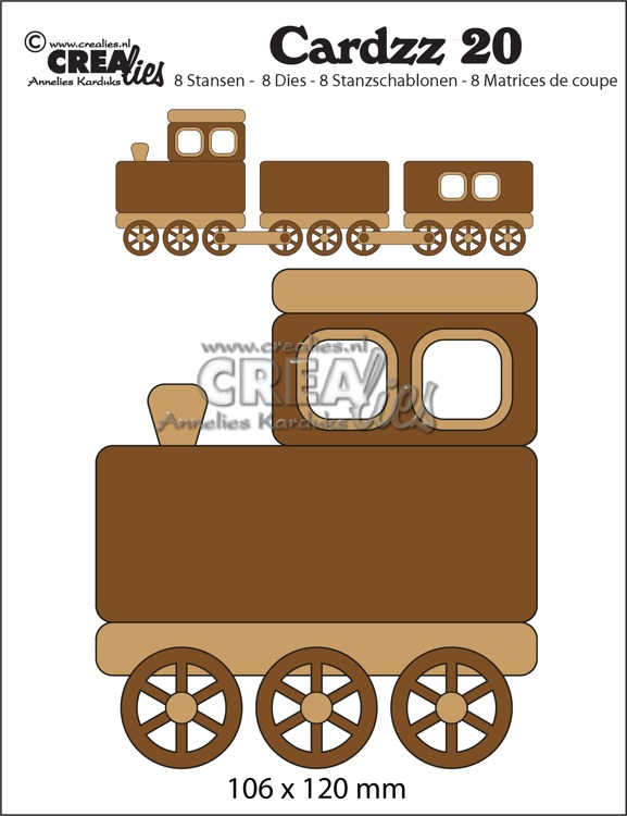 Cardzz stansen no. 20, Trein (kaartformaat)
