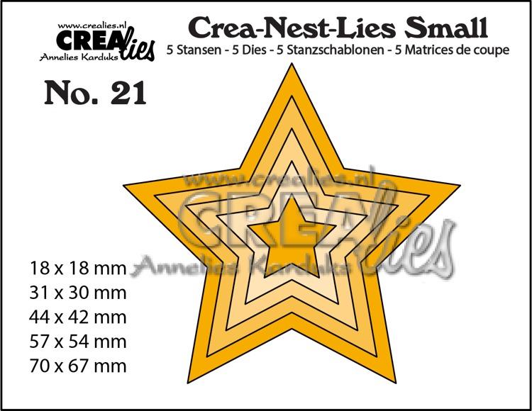 Crea-Nest-Lies Small stansen no. 21, 5x Sterren