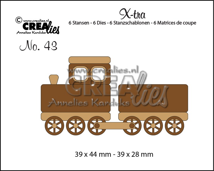 X-tra dies no. 43, Train + wagon (small)