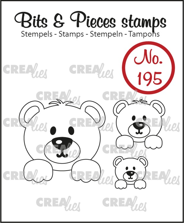 Bits & Pieces stempel no. 195, 3x Beertjes