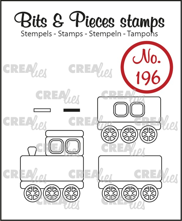 Bits & Pieces stamp no. 196, Train + wagons