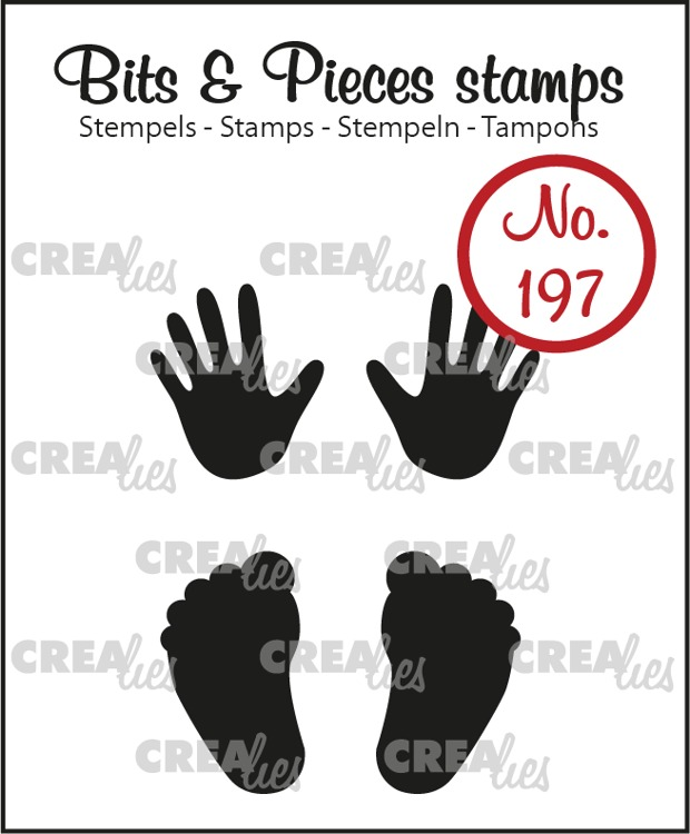 Bits & Pieces stamp no. 197, Baby hands + feet (solid)