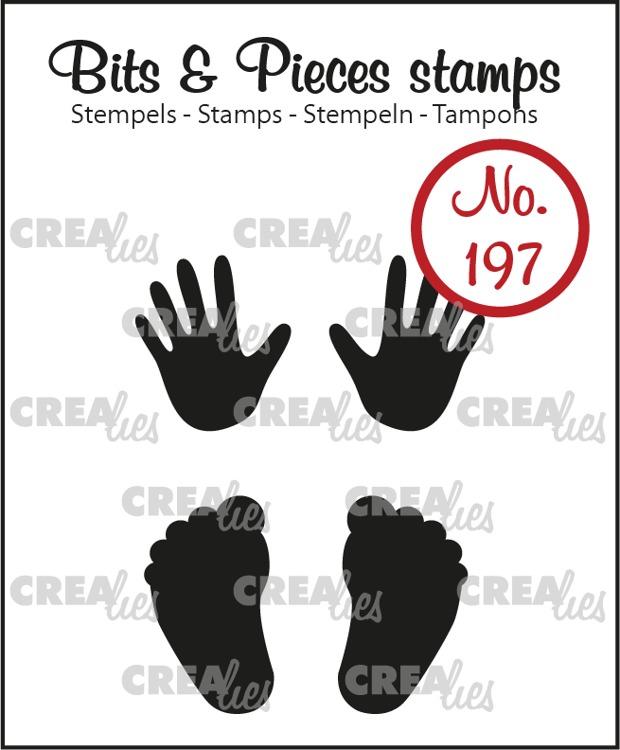 Bits & Pieces stempel no. 197, Baby handjes + voetjes (dicht)
