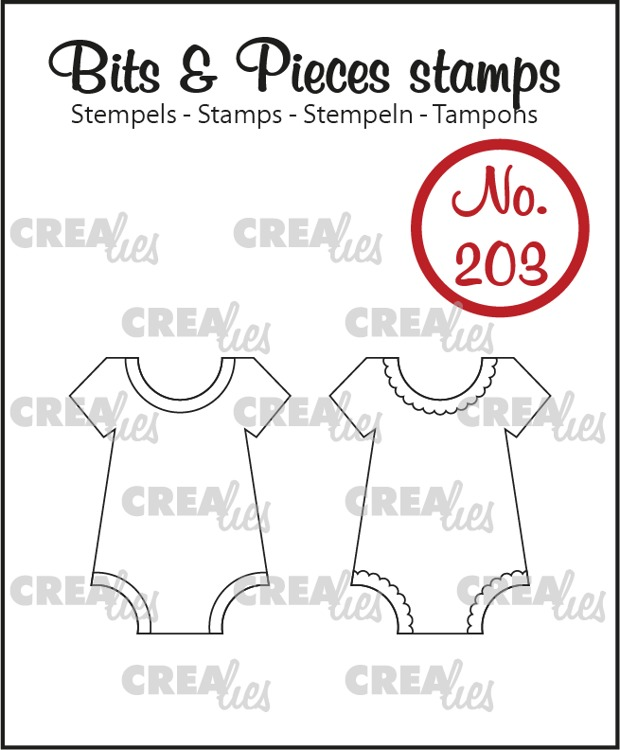 Bits & Pieces stamp no. 203, 2x Onesie