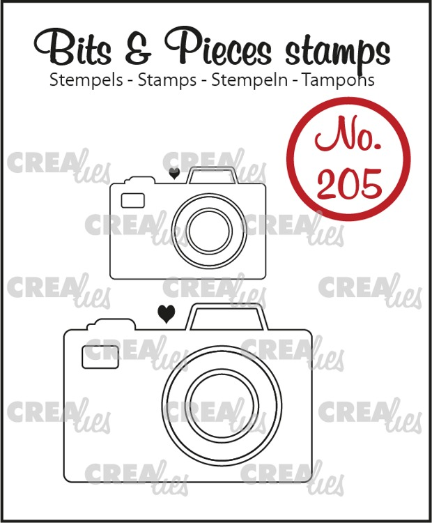Bits & Pieces stempel no. 205, 2x Camera