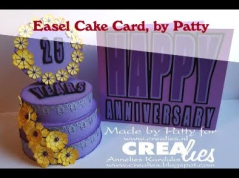 Crealies Easel Cake Card, by Patty