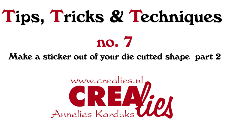Crealies TTT no.7:  Make a sticker out of your die cute shape part 2